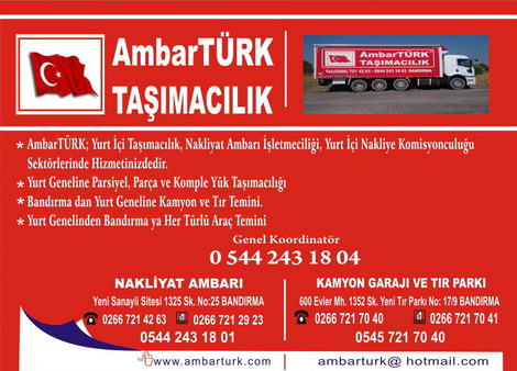Bursa Band�rma AmbarT�RK Nakliyat ve Ta��mac�l�k.