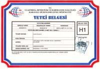 AmbarT�RK Yurti�i Ta��mac�l�k ve Nakliye Komisyonculu�u; H1 Yetki Belgesi (Yurti�i E�ya ve Y�k Ta��mac�l��� Alan�nda Komisyonculuk yapacaklara verilir.)